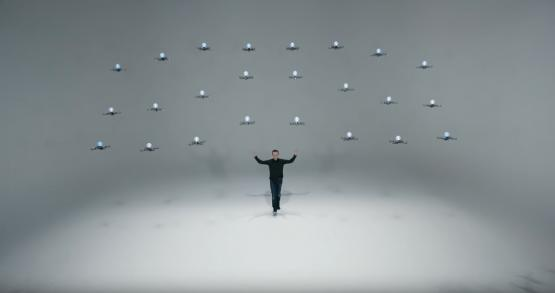 Tech magician Marco Tempest works with Perception Neuron motion capture for special effects.