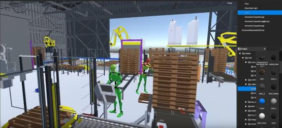 A demo shows work-related motion to gauge safety using the Perception Neuron motion capture system.