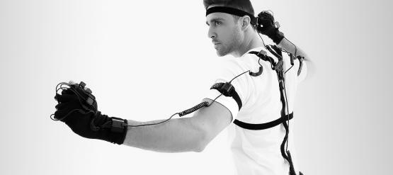 The Perception Neuron 2.0 full-body and finger tracking motion capture system.